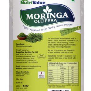 Nutrivalue Moringa Oleifera - Highly Nutritious Drum Sticks Leaves Powder,100g