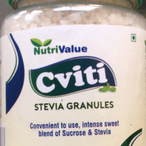 Nutrivalue Cviti Granules- Natural Sugar Substitute blend of sucrose with Stevia extract,150gm
